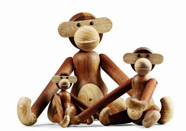 Kay Bojesen. Garder, Gyngehest og abe. Trælegetøj. - Dines Bogø